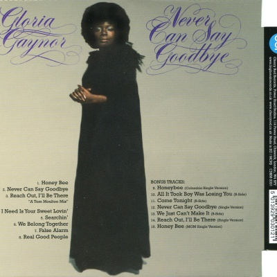 Gloria Gaynor - Never Can Say Goodbay (Album)
