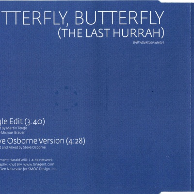 a-ha - Butterfly, Butterfly (The Lst Hurray) (Album)