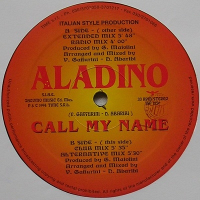 Aladino - Call My Name (Vinyl) (Album)