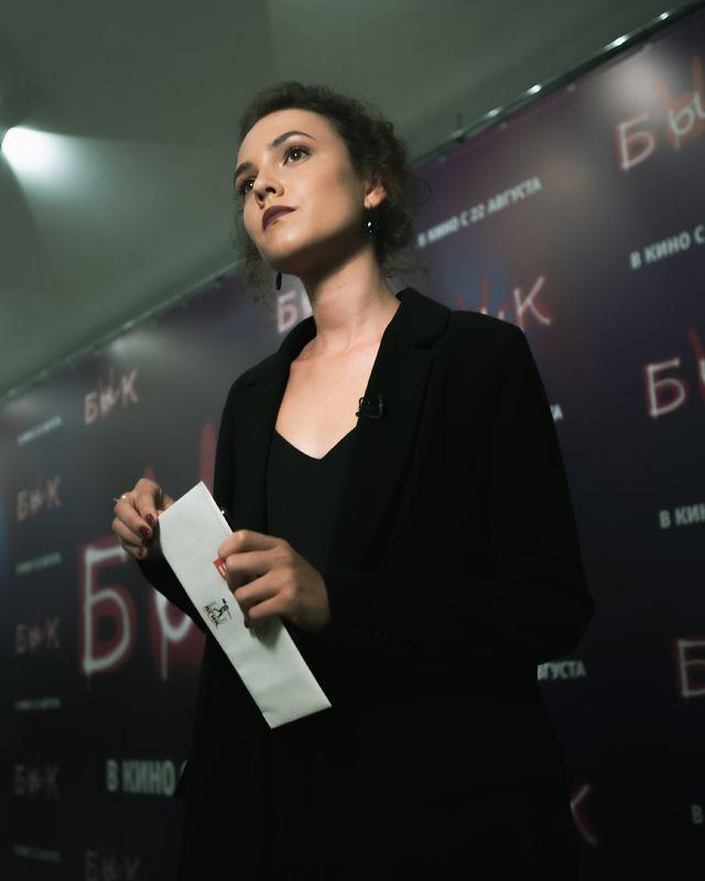 Александр Петров пришел на премьеру картины возлюбленной